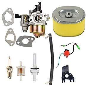 OxoxO carbure Tor Air Filter Spark Plug jonit filtro Fuel Filter for Honda gx1605.5HP GX2006.5HP Engine