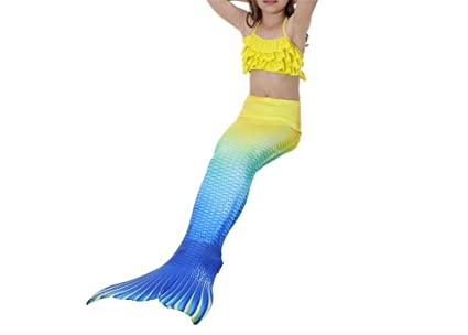 1301e7991 LUCKY-U Chicas Traje de baño Sirena Cola Trajes de baño Bikini Set Disfraz  para