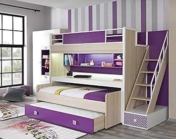 Etagenbett Für 3 Personen : Kupa etagenbett trend mit ausziehbarem schreibtisch personen