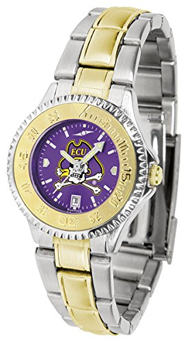 East Carolina Pirates Competitor Two-Tone AnoChrome Women's Watch