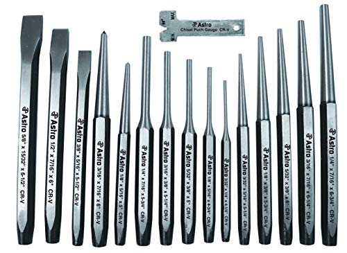 Astro 1600 16-Piece Punch and Chisel Set (Renewed)