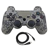 Bowink Wireless Bluetooth Controller For PS3 Double Shock - Bundled with USB charge cord (camouflage)