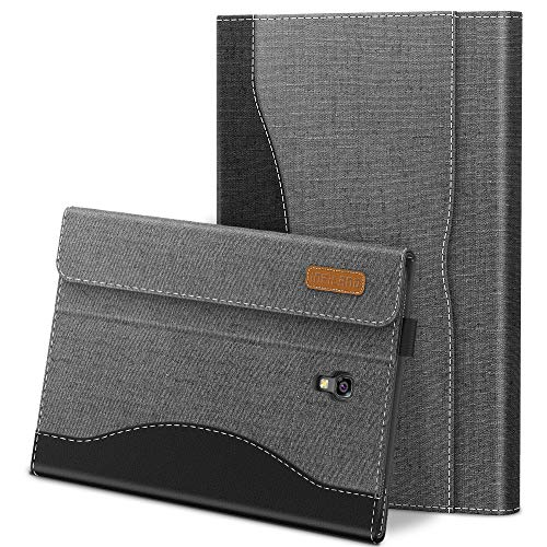 Infiland Samsung Galaxy Tab A 10.5 Case, Multi-Angle Business Cover with Back Pocket for Samsung Galaxy Tab A 10.5-Inch SM-T590/T595/T597 2018 Release Tablet (Support Auto Wake/Sleep), Gray