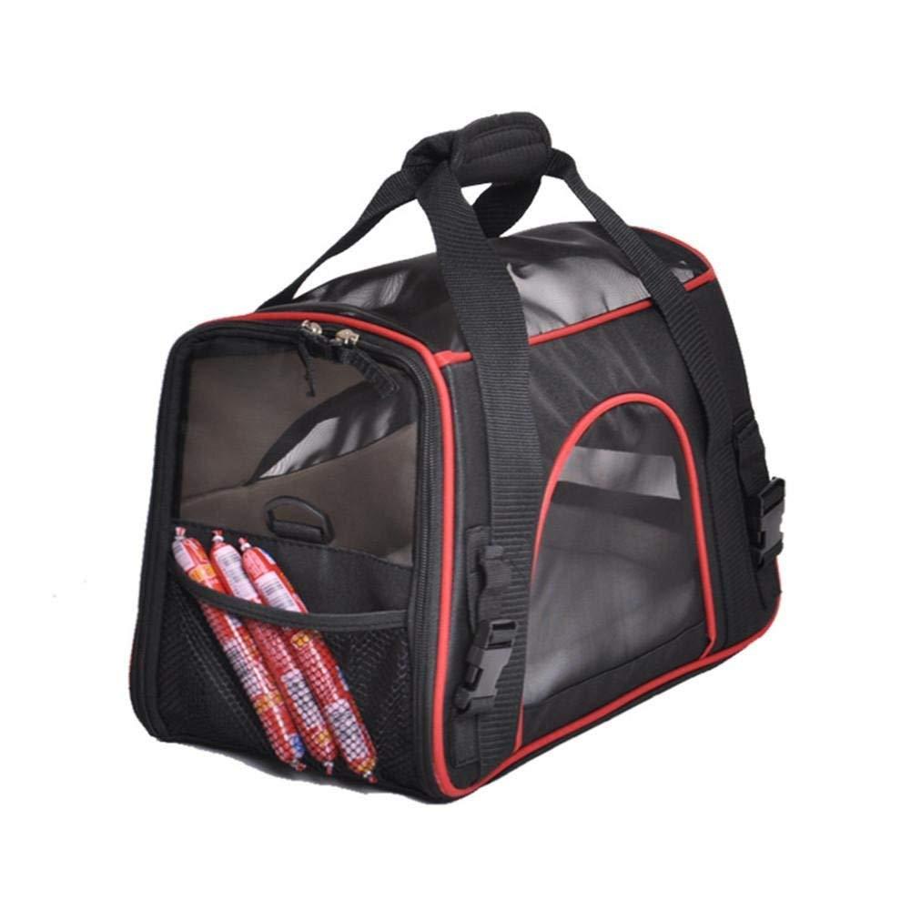 2 Portable Pet Carrier Bag Dog Cat Travel Bag Breathable Polyester Pink Single Shoulder Handbag Easy Carry Pet Bag, 1 (color   2)