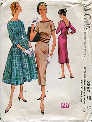 50s dress patterns mccalls - 1