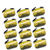 Cheap 12pc 4/5 SC Sub C 1200mAh Ni-CD Rechargeable Battery W/Tab For Cordless Drill Battery Pack