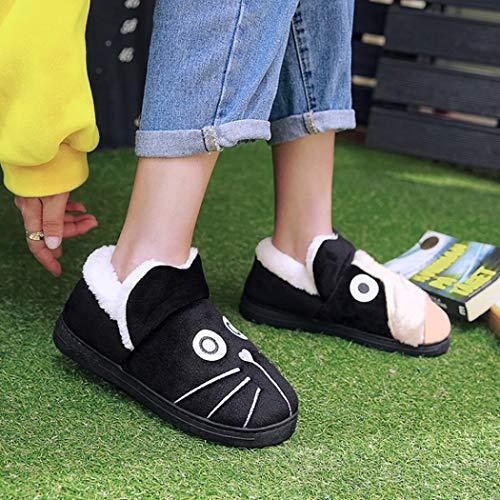 De Flip Coton Cartoon Chambre Chaussons En Hommes Chaud Femmes Plate C Accueil Style Belles Printemps Flops forme Peluche Pelage Couple Chaussures Iwyq0wz5