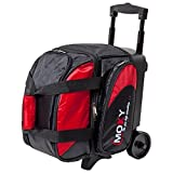 Moxy Bowling Products Single Deluxe Roller Bowling Bag- Red/Black