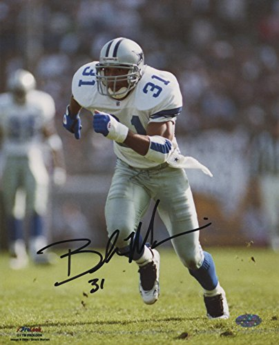 Brock Marion Autographed 8x10 Dallas Cowboys (White Jersey)