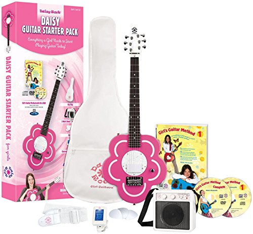 Daisy Rock Heartbreaker Electric Short Scale Starter Pack, Red Hot Red ()
