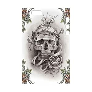 3D Bumper Plastic Customized Case Of Skull for iPhone 5,5S by icecream design