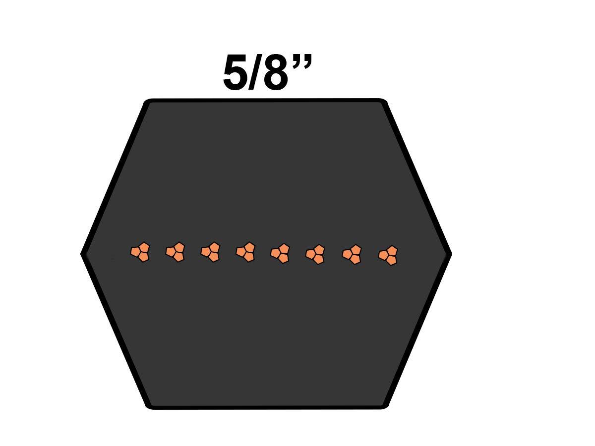 1 Band 106.6 Length D/&D PowerDrive BB102 Hexagonal V Belt Rubber