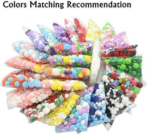Pink, 10mm Zhiheng 500 Pack Fluffy Mini Pompoms Balls High Density Pom Poms for Kids Crafts Jewelry Making Accessories Clothing Appliques Decorations
