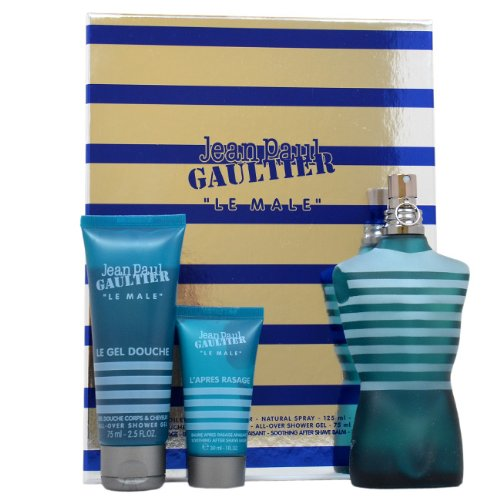 jean paul gaultier le male 3 piece gift set for men lifestyle updated. Black Bedroom Furniture Sets. Home Design Ideas