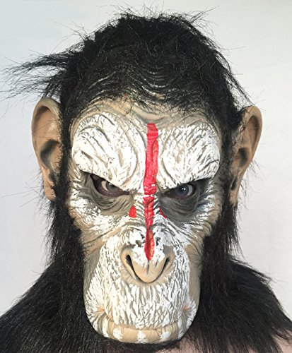 [The Cosplay Company Caesar Planet Of The Apes Latex Mask] (Planet Of The Apes Costumes)
