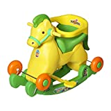 Archana Supreme 2 In 1 Green Horsey Rocker Cum Ride On Toy For Kids