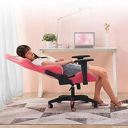 Qi Peng Silla giratoria: Silla ergonómica para computadora Silla de Juego para el hogar Silla Esports, Silla de Ancla Rosa para niña Silla de Oficina: ...