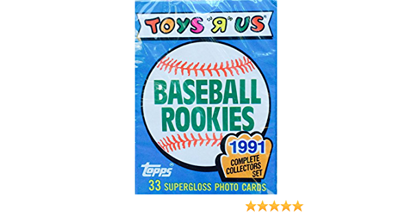 Frank Thomas 1991 Topps Glossy Toys R Us Baseball Rookies Card Set