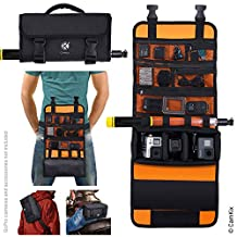 CamKix Roll-Out Bag with Belt / Shoulder Strap for GoPro Hero and Other Action / Compact Cameras - Multiple Carry Options (Hand, Shoulder, Waist, Back) - Smart Case Layout with Adjustable Main Compartment