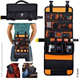 CamKix Roll-Out Bag with Waist/Shoulder Strap for GoPro Hero + Other Action/Compact Cameras - Multiple Carry Options (Hand, Shoulder, Waist, Back) - Smart Case Layout - Adjustable Main Compartment