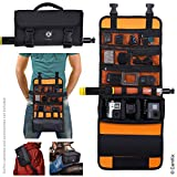 CamKix Roll-Out Bag with Waist/Shoulder Strap Compatible with GoPro Hero + Other Action/Compact Cameras - Multiple Carry Options (Hand, Shoulder, Waist, Back) - Smart Case Layout