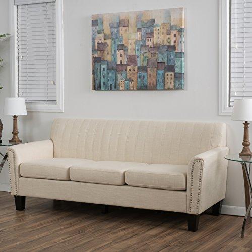 Denise Austin Home Hidalgo Three-Seat Fabric Sofa