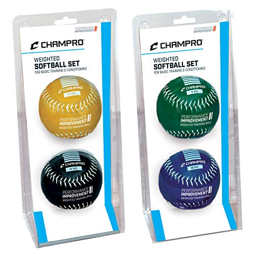 Champro Advanced Weighted Training Softball (Yellow/Black, 12-Inch)