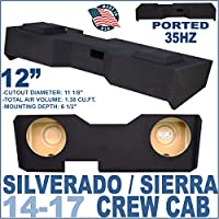 14-17 Chevy Silverado GMC Sierra Crew Cab Truck 12 Subwoofer Box Enclosure …