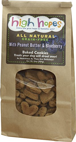 High Hopes Peanut Butter and Blueberry Dog Treats, 10 Ounce