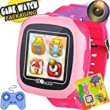Kids Smart Watch Games for Boys Girls Fitness Tracker 1.5' Touch Screen Game Watch with Alarm Clock Camera Pedometer Children Electronic Learning Holiday Toy Black Friday Deals Birthday Christmas Gift