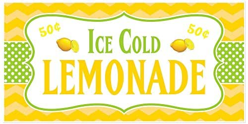 Amazon.com: Ice Cold Lemonade Stand Sign Personalized ...
