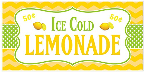 (Ice Cold Lemonade Stand Sign Personalized Banner)