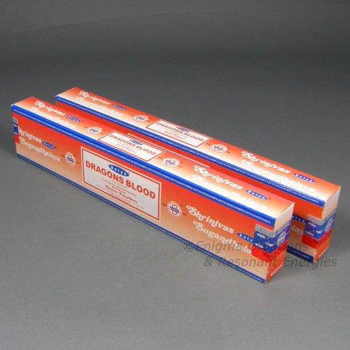 Satya Dragon's Blood Incense Sticks, 2 x 15 Gram Box, 30 Grams Total - (IN239)
