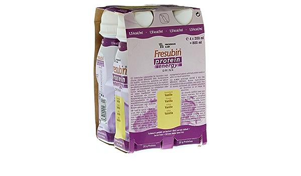 FRESUBIN PROTEIN - Bebida energética de vainilla, 4 unidades ...