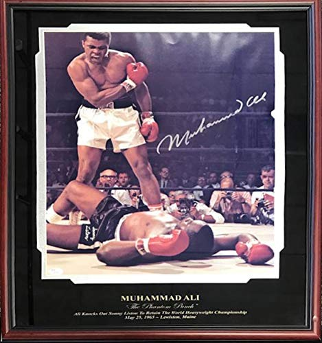 Signed Muhammad Ali Picture - Framed 16x20 JSA) - Autographed Boxing ()