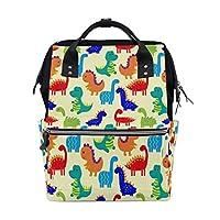 WOZO Hipster Dinosaur Multi-function Diaper Bags Backpack Travel Bag