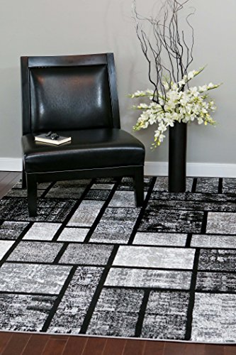 Persian-Rugs 5 Feet x 7 Feet- Area Rug Modern Carpet, Gray