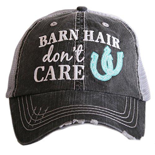 Katydid Barn Hair Don't Care Women's Trucker Hat-grey/mint ()