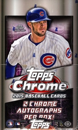 2015 Topps Chrome Baseball - 2015 Topps Chrome MLB Baseball HOBBY box (24 pk)