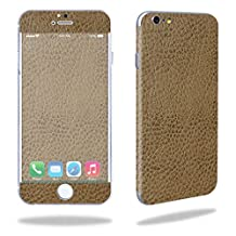 """Mightyskins Protective Vinyl Skin Decal Cover for Apple iPhone 6/6S Cell Phone 4.7"""" Cover wrap sticker skins Sandalwood Leather"""