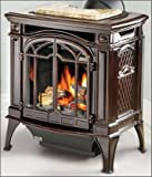 Napoleon GDS25NN Bayfield 24'' Cast Iron Direct Vent Stove Electronic Ignition Porcelain Majolica Brown Finish Natural