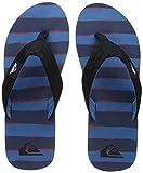 Quiksilver Molokai Layback Flip Flops - Black/Red / Blue UK 9