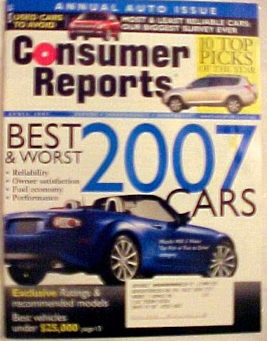Consumer Reports (April) (Best Land Rover Magazine)