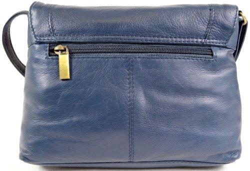 Black Tan Blue Leather Cross Bag Body Blue Soft Red Ox Shoulder Ladies Premium Brown Charcoal 1wT4gqn0