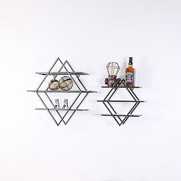 Wand Regale Einfache Und Moderne Eisenwand Wohnzimmer Schlafzimmer  Wandbehang Kreative Dreidimensionale Hauptwand Dekoration ( Size :