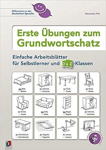 Erste Übungen zum Grundwortschatz: Einfache Arbeitsblätter für ...