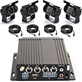 in car camera system - Wen&Cheng 4CH 720P Mobile AHD DVR Realtime Video/Audio Recorder with Remote Control + 4 pcs Waterproof 18 IR LED HD Camera + 4pcs Video Power Extension Cables, Car Black Box Security System