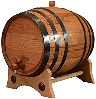 5 Liters American Oak Aging Barrel | Handcrafted using American White Oak | Age your own