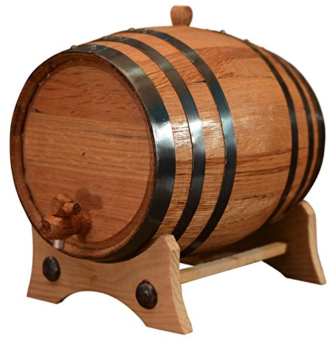 Bourbon Barrel Beer - 5 Liters American Oak Aging Barrel | Handcrafted using American White Oak | Age your own Whiskey, Beer, Wine, Bourbon, Tequila, Hot Sauce & More