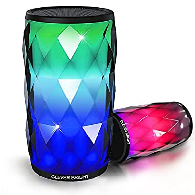 Portable Bluetooth Speakers with LED Lights 6 Patterns Visual Wireless Speaker 4.1 HD Bass Powerful Sound Built-in Mic,AUX,Hands Free Home Outdoor Wireless Bluetooth Speaker